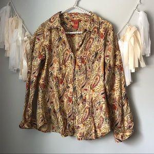 Sundance Paisley Print Button Down Shirt